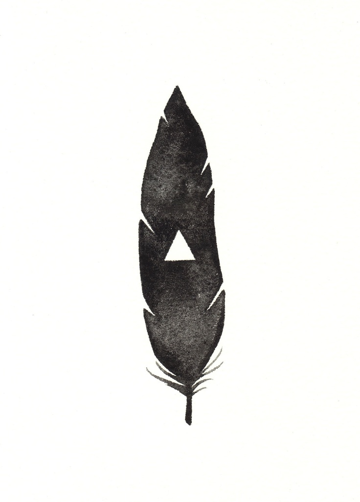 Black Triangle Feather by Anna Tovar