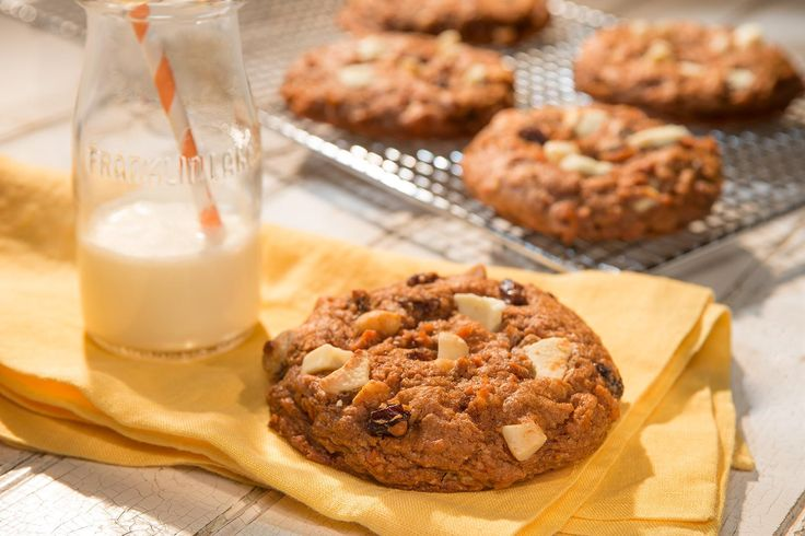 White Chocolate Chunk Carrot Cake Cookies