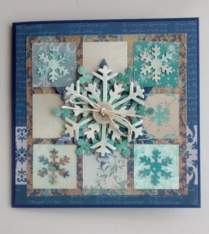 Snowflake card using Couture Creations Vintage Christmas paper stack