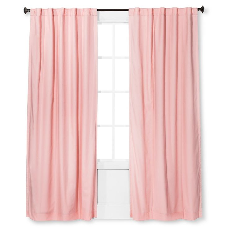 Twill Light Blocking Curtain Panel Light Pink (54x84) - Pillowfort