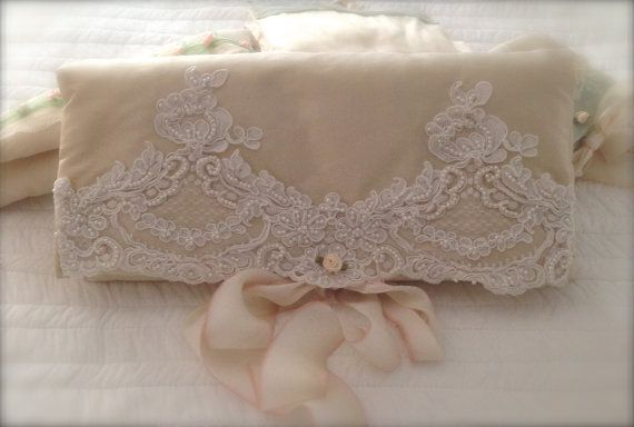 This pure silk lingerie travel bag would make a fabulous bridal shower gift - its very luxurious & handmade