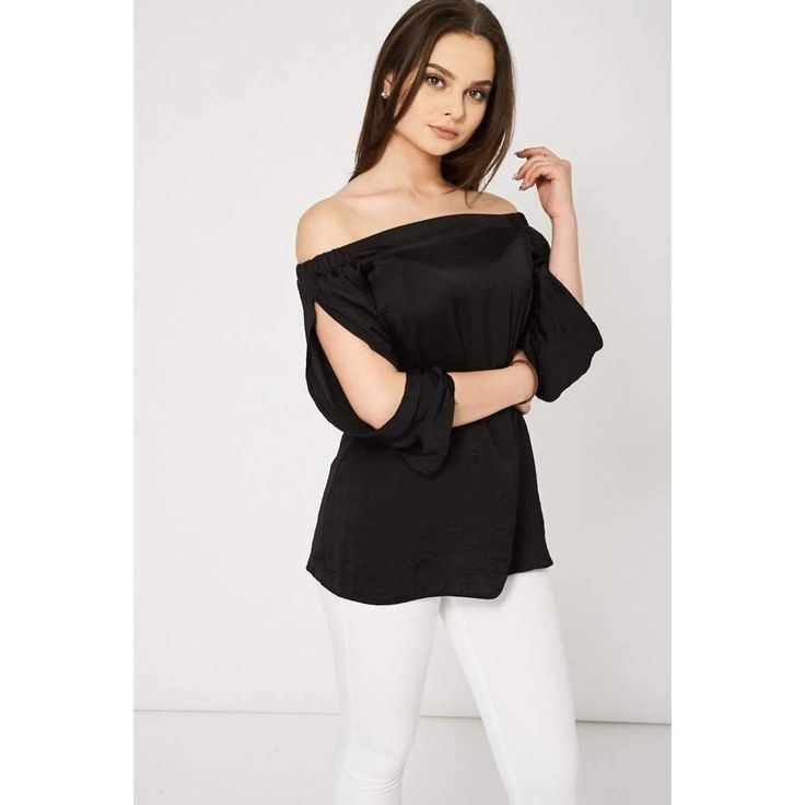 Black Bardot Top With Open Sleeves Ex-Branded #TOP #BLACK #FASHION #LATEST #blackfriday #cybermonday #holidays https://seethis.co/z3ngyO/