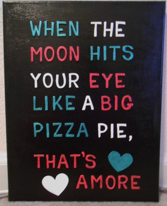 That's Amore... Lol  I would love it more if it was different colors and script!! Absolute hang in my kitchen!