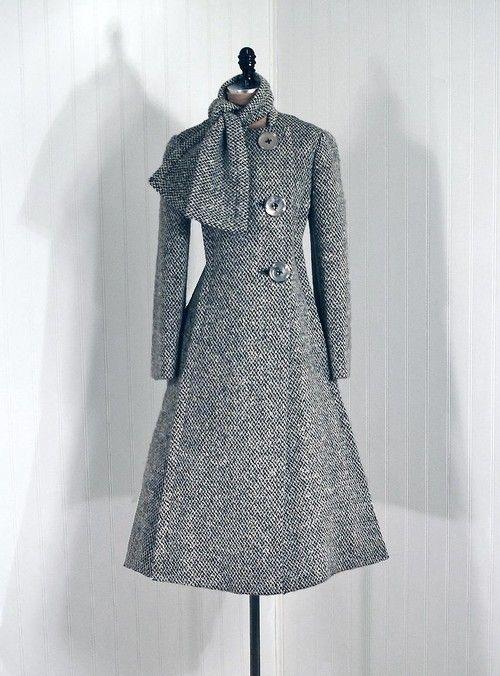 Coat  Pauline Trigère, 1960s  Timeless Vixen Vintage
