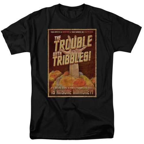 Star-Trek-TOS-The-Trouble-with-Tribbles-Black-Adult-T-Shirt-Size-3X-NEW-UNWORN