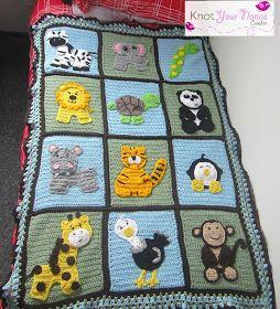 Knot Your Nanas Crochet: Zoo Blanket for newborn boy
