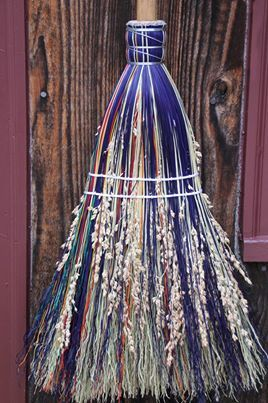 Every witch needs a beautiful broom!   Check out Broomcorn Johnny's or look them up on the web (http://broomcornjohnnys.com/) for affordable, high quality, and gorgeous handmade brooms of all sizes and styles!