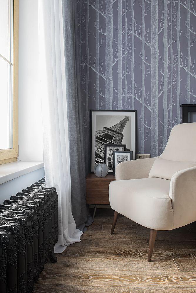 Фрагмент.Интерьер спальни из проекта Трёхкомнатная квартира в современном городском стиле. Автор Насонова Анна