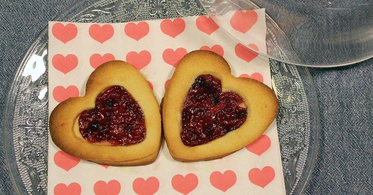 Valentijn: love cookies met aardbei