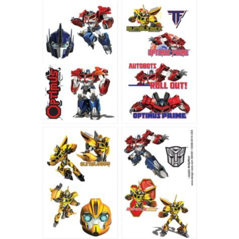 Transformers Tattoos 1 Sheet - Party City
