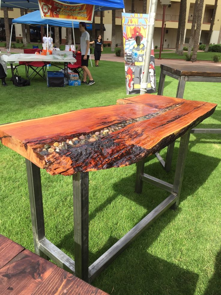 Live Edge Table Or Desk Slab Wood And River Rock Table Or Desk Kitchen Island Desk Bar Slab Wood