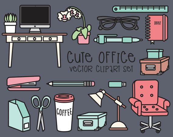 Haut de gamme Vector Clipart  Clipart Office Kawaii  Kawaii