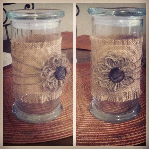 Reused my jar @Diamond Candles jar :D