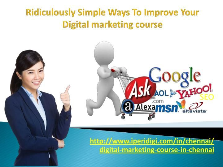 Digital Marketing course in Chennai represents the marketing  of your own products or services to reach the consumers using the   digital channels.Promoting the brand through various Digital Media is the key objective of Digital Marketing.  Are you wait Digital marketing course in Chennai, http://www.iperidigi.com/in/chennai/digital-marketing-course-in-chennai  #Digitalmarketing #DigitalmarketingTraining #Digitalmarketingservices