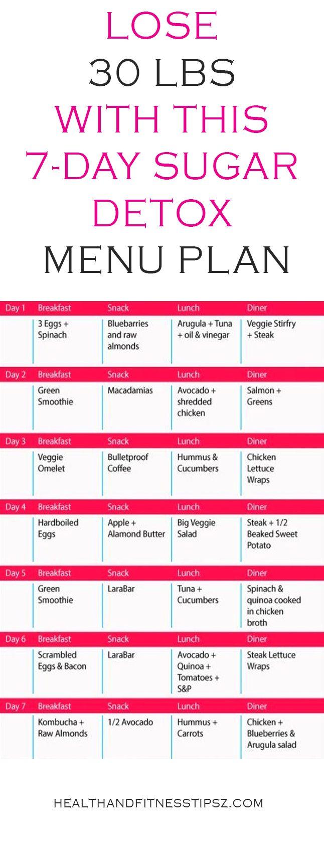 menu detox