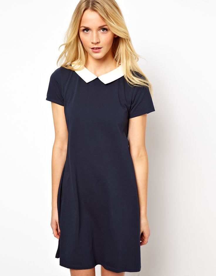 ASOS Swing Dress With Short Sleeve and Collar