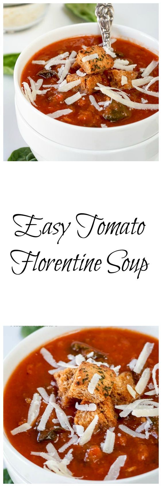 Tomato florentine soup, Tomatoes and Soups on Pinterest