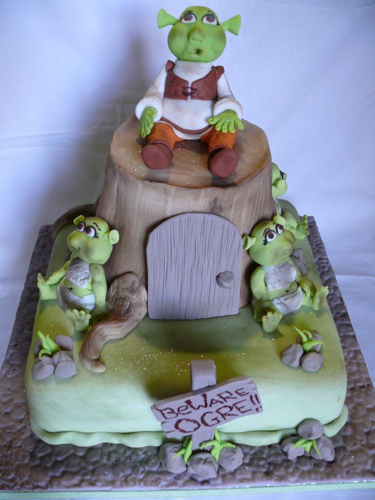 Shrek And His Babies Shrek Cake Shrek Birthday