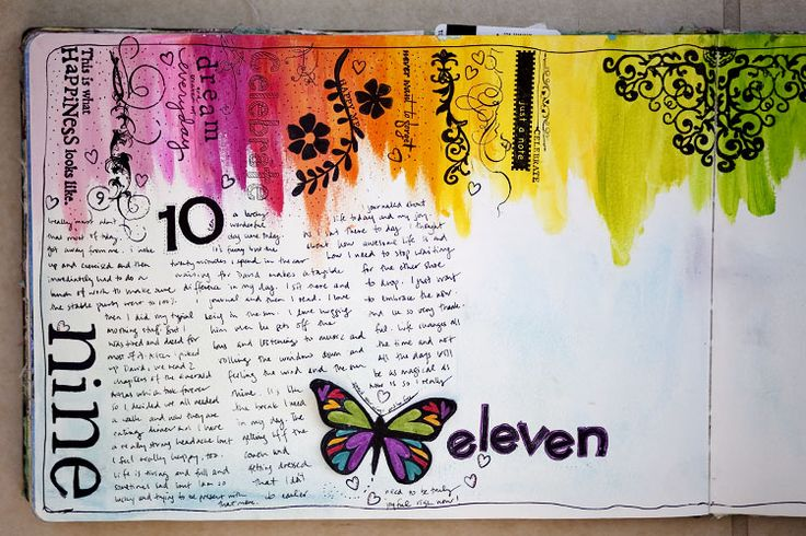 Love how she takes the time to explain her process for creating her weekly entry into her art journal.  The step by step pics are so inspiring!