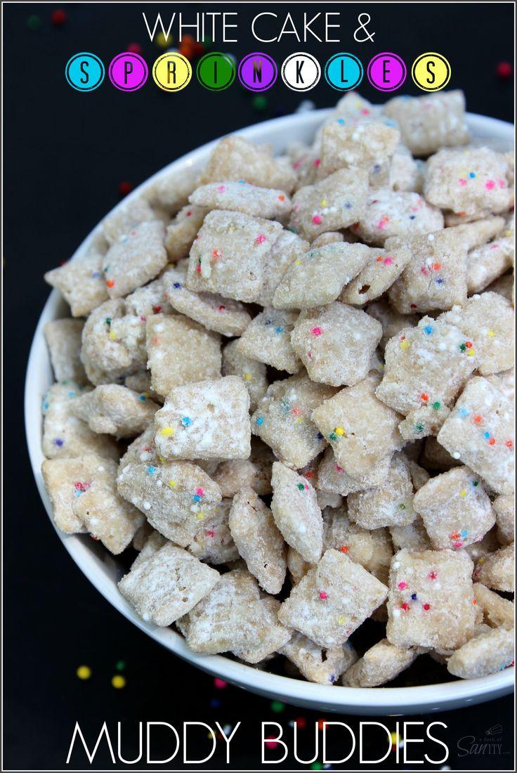 White Cake & Sprinkles Muddy Buddies