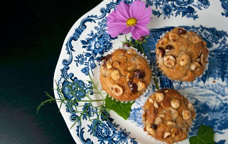 Den bedste glutenfri muffins jeg har smagt uden mel og sukker. Med rabarber, hasselnødder og ahornsirup. Dejlig konsistens, ikke for tør men dejlig saftig.