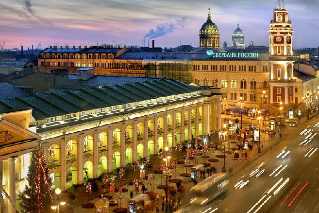 Gostiny Dvor Department Store in St. Petersburg, Russia. Best place to purchase a souvenir from Russia
