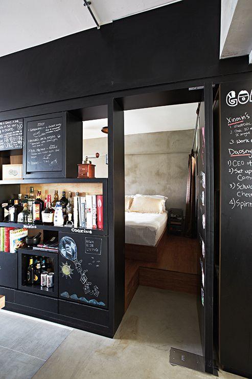 Cool Hdb Interior Design: An Open Concept 3 Room HDB Flat