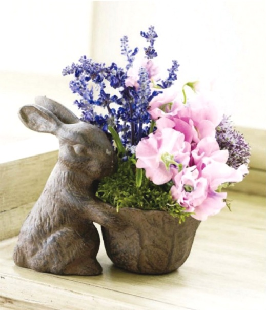 Home Craft Ideas Easter Bunny Flower Pot Craft Flower Pot: 52 Best Easter Floral Decorations Images On Pinterest