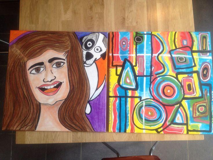 Made by kriebelkrabbelkunst  Kinderkunstprojecten