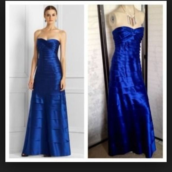BCBG Formal Gorgeous Blue ball gown This is a gorgeous blue ball gown. Perfect for prom or a holiday event or a special occasion. It can be worn with straps or strapless. It's frayed a tiny bit but it's by design. The color is stunning. It's a long and gorgeous!!! BCBG Dresses