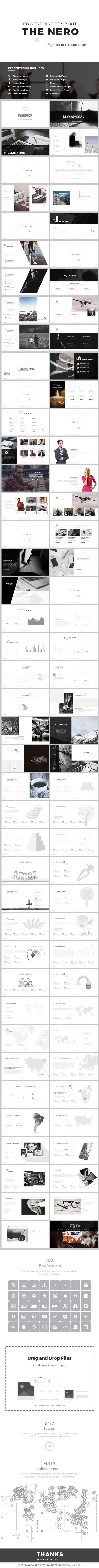 NERO - Powerpoint Template • Only available here! → https://graphicriver.net/item/nero-powerpoint-template/17308699?ref=pxcr