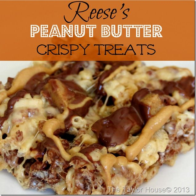 Reeses Peanut Butter Crispy Treats, Tasty Fun Recipes, Easy Recipes, Fast Recipes