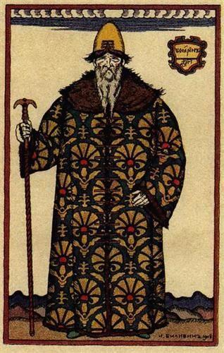 "Boyar. Costume design for the opera ""Boris Godunov"" by Modest Mussorgsky - Ivan Bilibin"