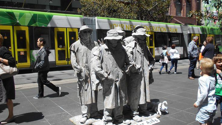 Buskers in Bourke St Melbourne 2017
