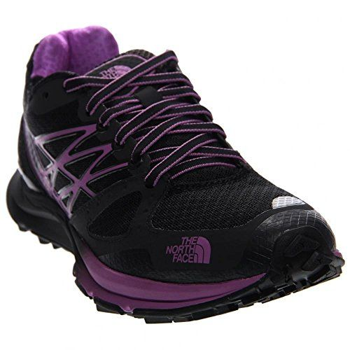 Womens The North Face Ultra Cardiac Women's Trail Running Shoes Shoe TNF  BlackSweet Violet Size 10