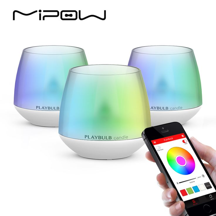 [ $38.49 ] MIPOW Pack of 3 PLAYBULB Smartphone APP Controlled LED Candle Smart Aromatherapy Candles Light Color Flameless Multi-Colors
