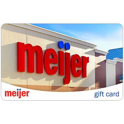 Gift Cards: $100 Meijer Gift Card For Only $94!! - Free Mail Delivery -> BUY IT NOW ONLY: $94 on eBay!
