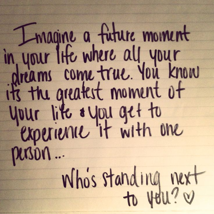 Who's standing next to you? One Tree Hill... a quote that should be read at our wedding