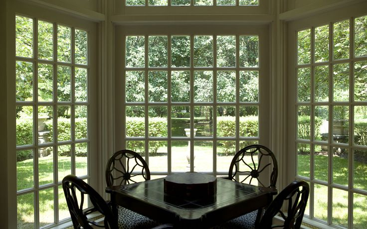 Balderbrae.  A view of the backyard from the great room. 'The outdoors is indoors here,' said Mr. Singer, 61 years old. 'It's almost like a glass house.' The couple plan to move to Florida but will return to Manhattan often to visit their grown children, grandchildren and offices.