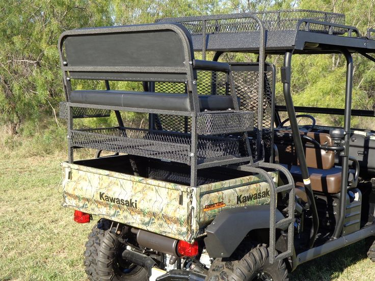 4x4 UTV Accessories - Kawasaki Mule Rear High/Hunting Seat