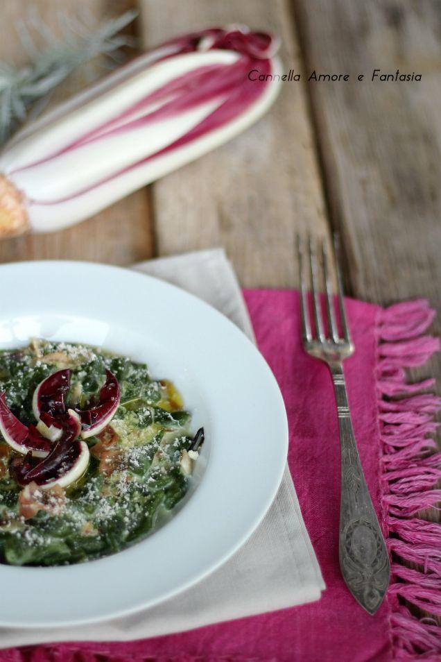 Spaetzle di spinaci con radicchio e speck ricetta sfiziosa