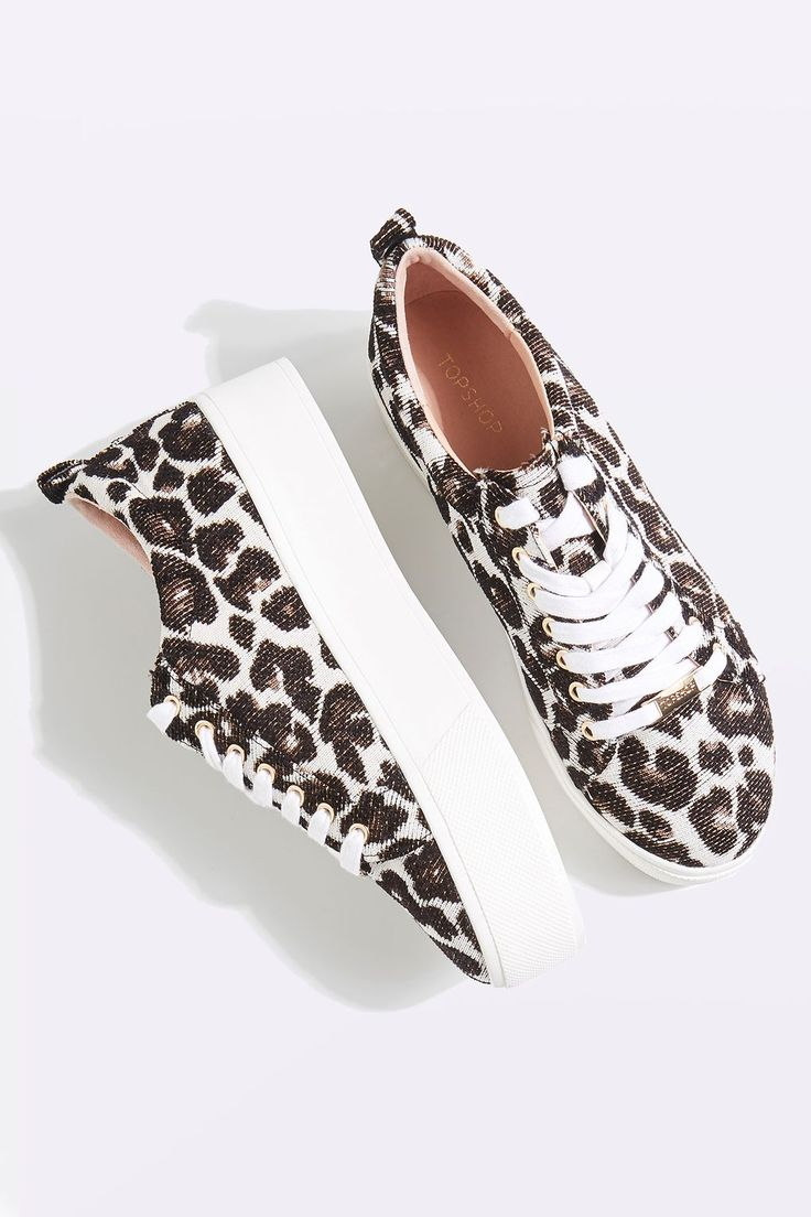 Topshop Animal Print Trainers