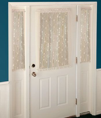Pineapple Sidelight Panel Crafts Sidelight Curtains