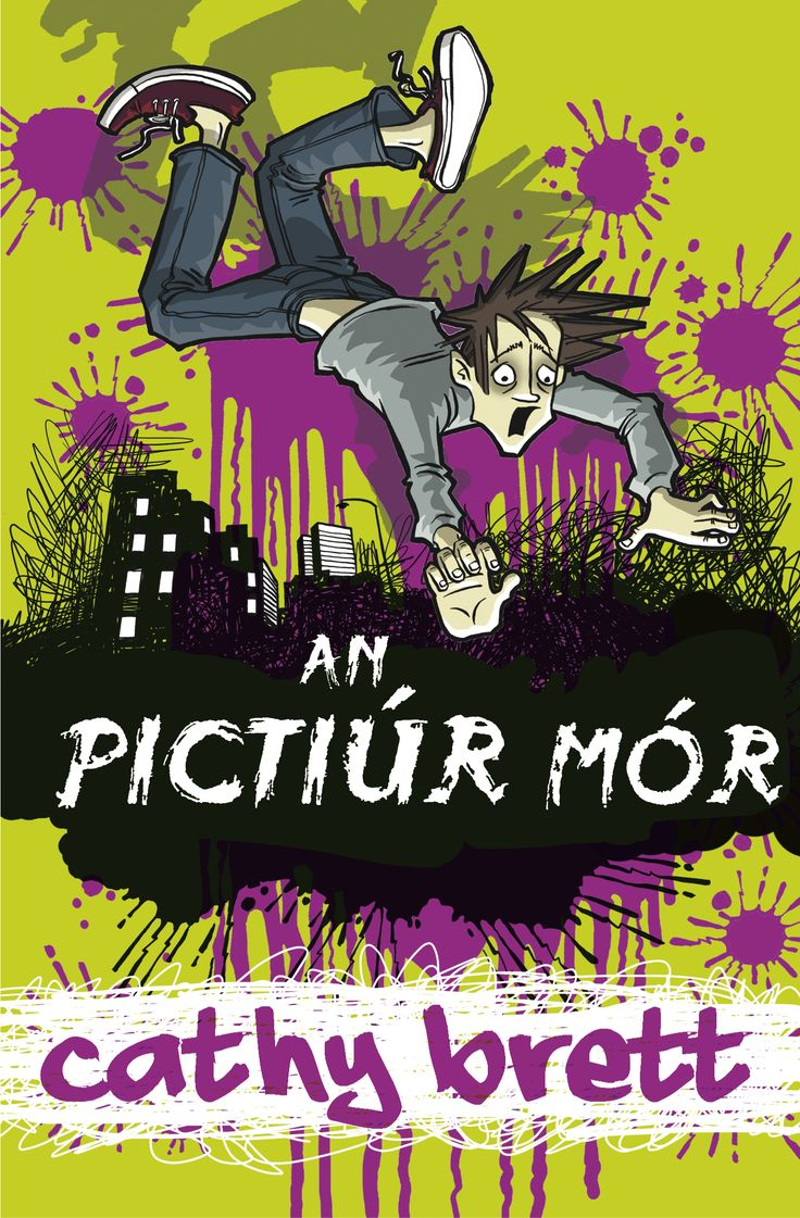 An Pictiúr Mór ( Graphic) Fiction for children. Cathy Brett  Barrington Stoke translation into Irish. Highly entertaining illustrated early teen novel that will appeal to boys and girls 11-16, depending on reading ability in Irish. Targeted translation by established Irish-language author, Tadhg Mac Dhonnagáin.