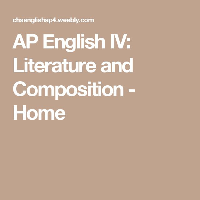 ap english literature and composition Course overview acellus ap english literature and composition, taught by acellus instructor taught by jairus tapp, is designed for students who have mastered the basic english curriculum and wish to be challenged by higher-level reading and analysis.