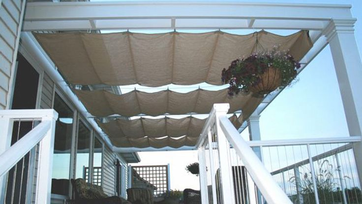 Roman Shades | Backyard Deck Patio - Grand Rapids, Michigan