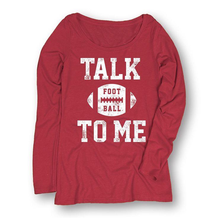 Talk Football To Me-Adult Ladies Long Sleeve Tee