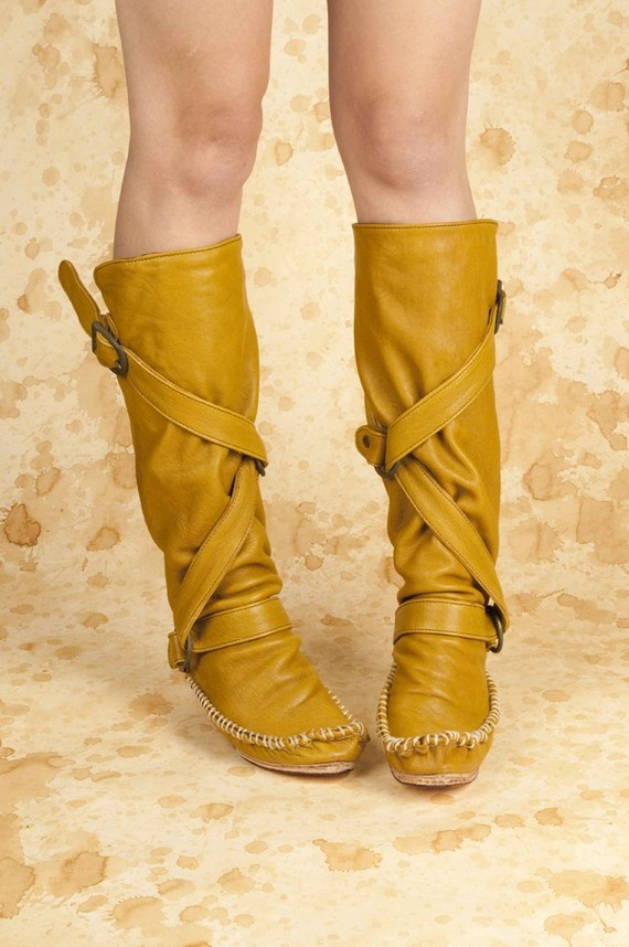 moccasin boot.  etsy.