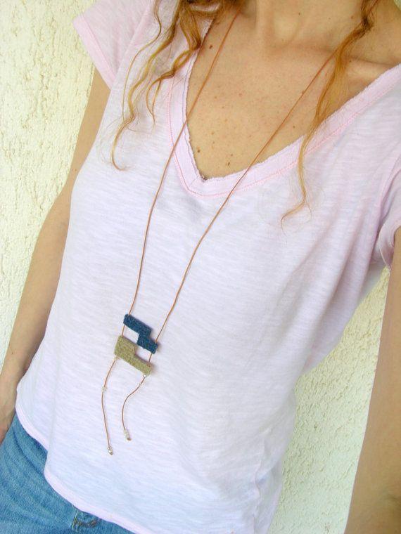 Minimal necklace long necklace minimalist jewelry by AlfaHandmade