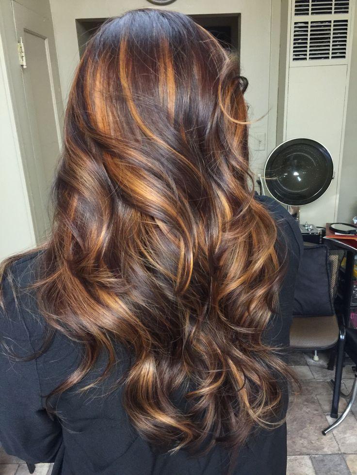 Dark Brown Violet With Melted Caramel Highlights